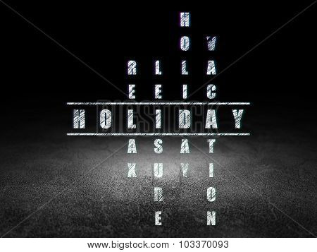 Travel concept: Holiday in Crossword Puzzle