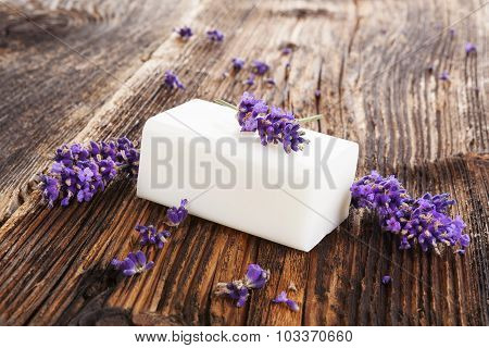 Lavender Cosmetics Background.