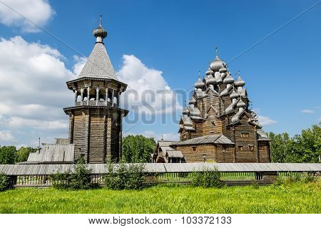 The Monument Of Wooden Architecture Pokrovsky Graveyard In St. Petersburg