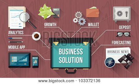 Business Concept With Oper Briefcase