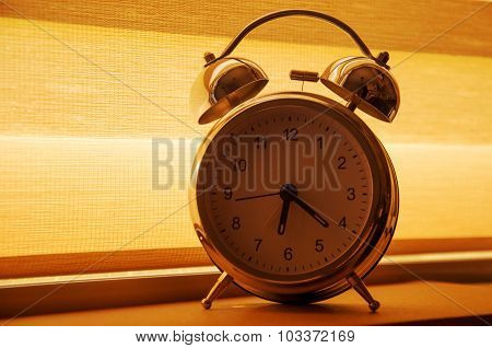 Alarm Clock On Window Sill