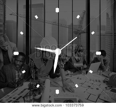 Time Management Clock Alarm Measure Concept