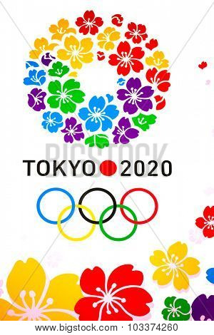 Tokyo, Japan - DEC 12: Poster of 2020 Summer Olympics at the Metropolitan Government Office Building in Shinjuku, Tokyo, Japan on December 12, 2013.