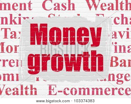 Banking concept: Money Growth on wall background