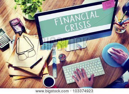 Financial Crisis Bankruptcy Depression Finance Concept