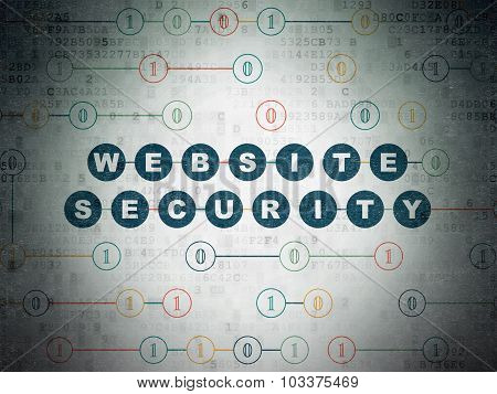 Safety concept: Website Security on Digital Paper background