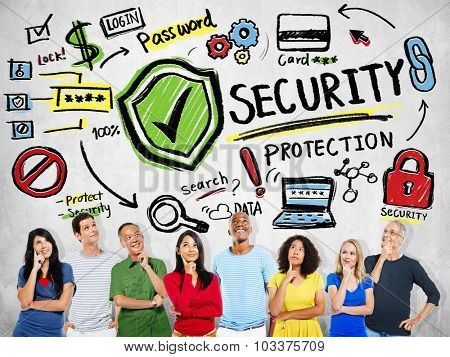 Ethnicity People Imagination Security Protection Password Concept