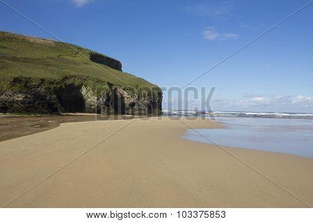 Empty Bedruthan Beach