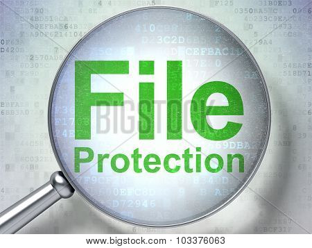 Privacy concept: File Protection with optical glass