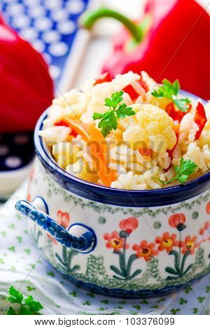 Rice Stewed With Vegetables