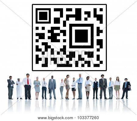 Quick Response Code Digital Internet Global Concept