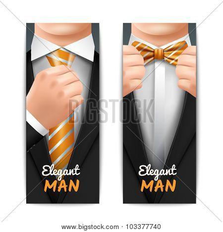 Elegant Man Banners Set
