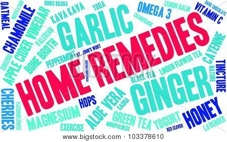 Home Remedies Word Cloud