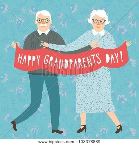 Happy Grandparents Day Poster