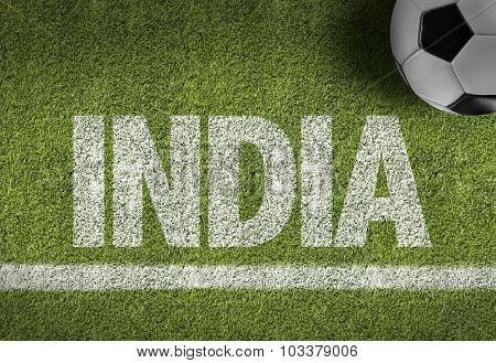 India Ball in a Soccer field