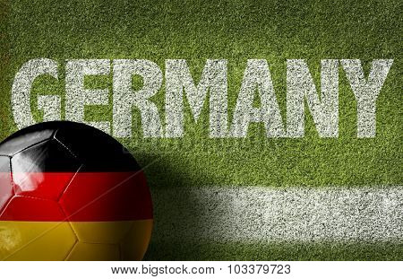 Germany Ball in a Soccer field