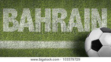 Bahrain Ball in a Soccer field