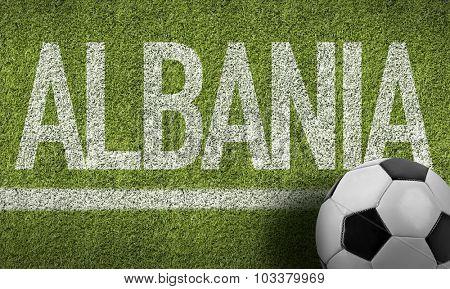 Albania Ball in a Soccer field