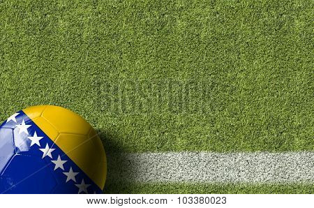 Bosnia and Herzegovina Ball in a Soccer field