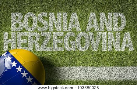 Bosnia and Herzegovina Ball in a Soccer field