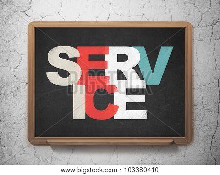 Finance concept: Service on School Board background