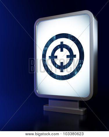 Finance concept: Target on billboard background