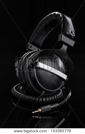 Big black headphones