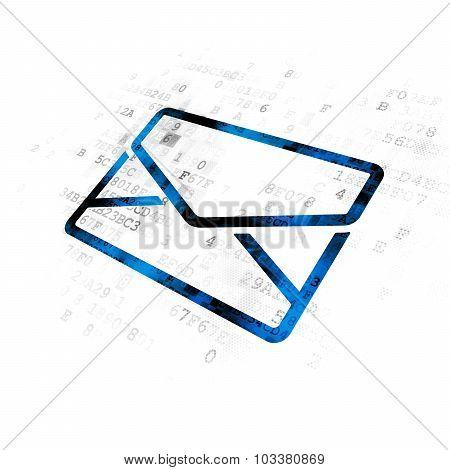 Finance concept: Email on Digital background