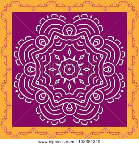 Folk, Tribal Design, Motif, Wall Painting Vector Art