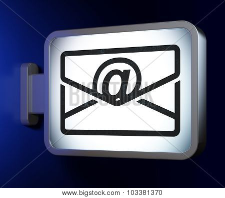 Business concept: Email on billboard background