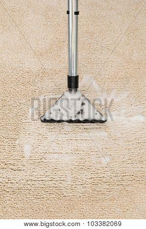 Vacuum Cleaner Over Carpet