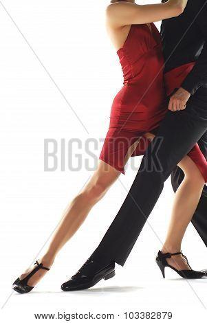 Two elegance tango dancers