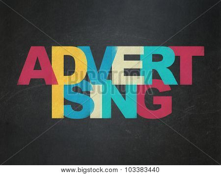 Marketing concept: Advertising on School Board background
