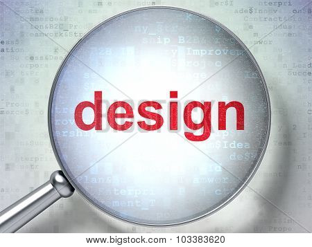 Advertising concept: Design with optical glass