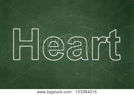 Medicine concept: Heart on chalkboard background