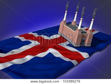 national heavy industry concept - island theme