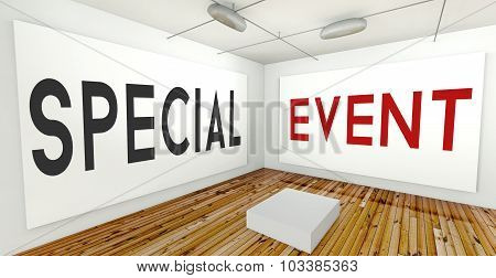 Special Event Frame Wall In Gallery Interior
