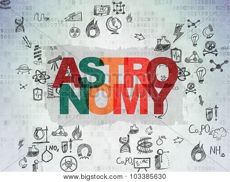 Science concept: Astronomy on Digital Paper background