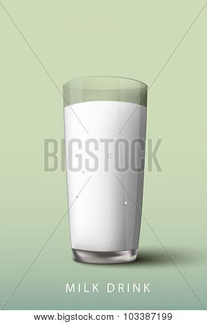 milk drink a glass