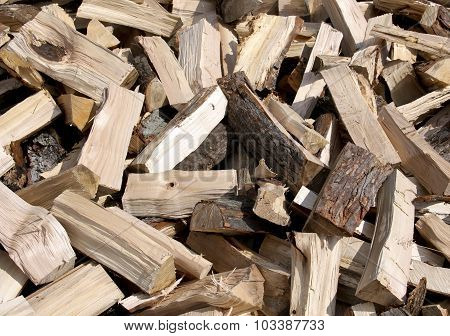 Split Firewood Background