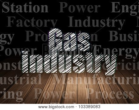 Manufacuring concept: Gas Industry in grunge dark room