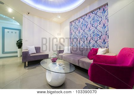 Living room in vibrant color