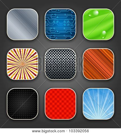 Backgrounds with texture for the app icons