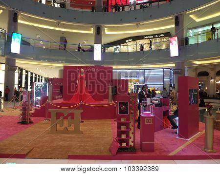Escada exhibit near Fashion Avenue at Dubai Mall in the UAE
