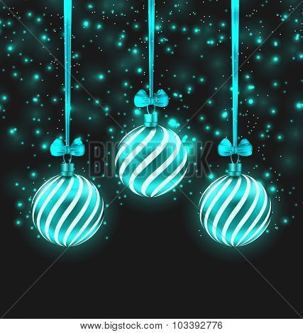 Christmas Dark Shimmering Background