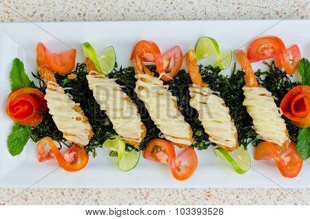 Crispy-fried Shrimps With Lime Sauce