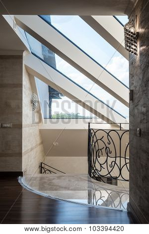 Designer's house with entresol