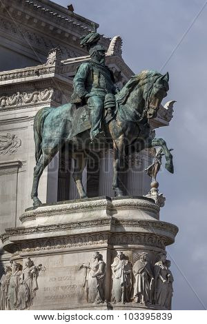 Statue Of Victor Emmanuel Ii