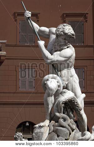Fontana Di Nettuno, Piazza Navona, Rome, Italy