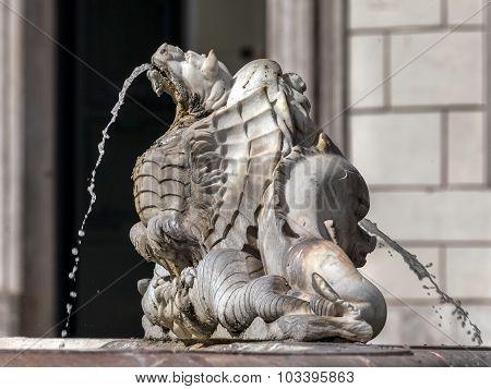 Fontana Del Moro, Piazza Navona, Rome, Italy